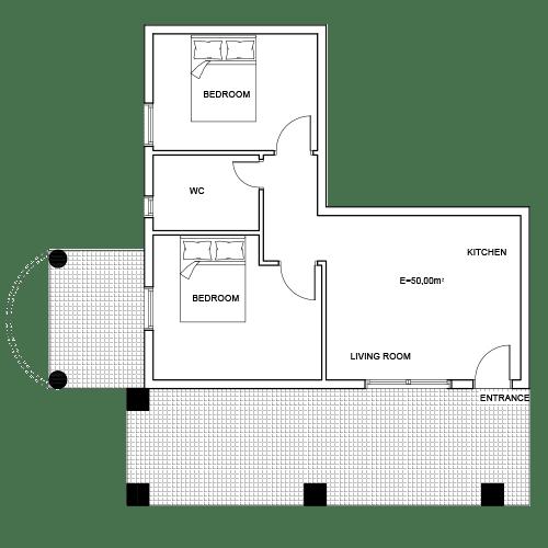 Building 1 Room 1 Sani Diamonds Aparthotel