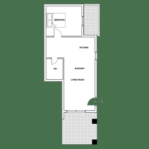 Building 1 Room 2 Sani Diamonds Aparthotel